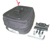 UNDER SEAT ZIPPERED BAG, QR MOUNT Black