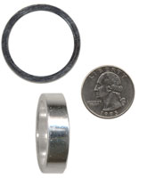 1 1/8x10mm HEADSET SPACER, Silver